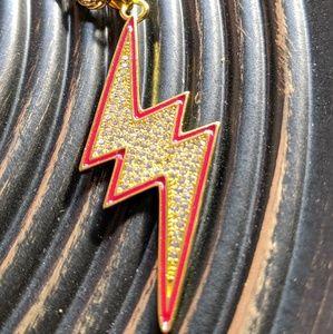 Other - 🔱Hip Hop🔱Iced Out Lightning Bolt Pendant